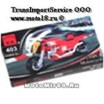 Конструктор детский красный мотоцикл (лего) (403) 139 деталей