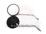Зеркала (050) пласт.(круглое, черные) (кол-во в упак. 50 пар.)