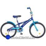 Велосипед 18'' NOVATRACK DELFI.16 (1ск,торм.нож.,защита А-тип, корот.крылья) синий/голуб