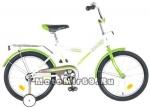 Велосипед 18'' NOVATRACK YT FOREST (1ск, рама сталь,тормоз ножной, багаж.,зв) 124281, зеленый