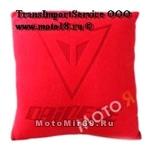 Подушка декоративная с логотипом известных брендов (из красного флиса)