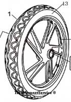 Обод 17 колеса передний Шторм 1,40-17 под диск 4 отв.