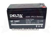 Аккумулятор герметичный 6В 7А/ч, AGM (Delta DTM 607) для электро машинок (151x34x100)