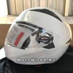Шлем модуляр (поднимается подбородок) Safelead LX-118 NEW карбон (Y03), белый размер L