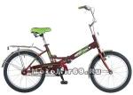 Велосипед 20'' FS-30 NOVATRACK (складной,1ск,торм.V-Brake, багаж.,зв.) 107126 борд