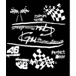 Наклейка развевающийся гоночный флаг