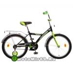 Велосипед 20'' NOVATRACK ASTRA (1ск,рама сталь, тормоз нож. Vbr, багаж.) 98600 черный