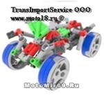 Конструктор детский типа ЛЕГО (90 деталей, серый мотоцикл с красно-зелено-синими детальками) (254-10