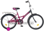 Велосипед 20 NOVATRACK FR-10 (1ск, рама сталь, торм.ножной,багаж.,зв) фиолетовый