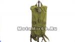 Поильник-рюкзак ВЕЛО/МОТО, зеленый (с емкостью для воды и длинным шлангом, можно пить на ходу)