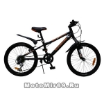 Велосипед 24'' NOVATRACK EXTREME (6ск,сталь.рама 12, TY21/RS35/SG-6SI, V-brake) черный 134056