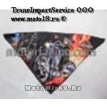Платок мото/скутер ГРАФИКА (треугольный, сзади на липучке, защита дыхания, Мотоциклист SA0007