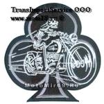 Нашивка Трефовый туз (скелет на мотоцикле) 15311167 НАКЛЕИВАЕТСЯ УТЮГОМ