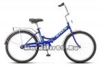 Велосипед 24'' STELS PILOT-710 (складной,1ск,рама сталь 16,зад.нож.торм,ал обода,баг,зв,насос)