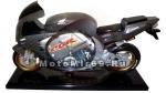 Часы настольные большие в виде гоночного мотоцикла HONDA, на подставке, в коробочке, серые