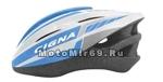 Шлем вело CIGNA WT-040, размер M/L (57-62 cm) (черно-желто-серебристый, с козырьком)