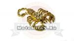 Наклейка объемная (мото/авто или по желанию), металл, 1518 Скорпион (под золото), стильная