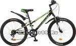 Велосипед 24'' NOVATRACK EXTREME (6ск,МТВ,рама ст.10,TY21/RS35/TZ21, V-brake) 117110 черный