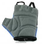 Перчатки вело, цвет черный с синим, размер XL