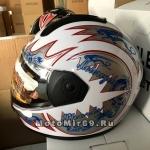 Шлем интеграл Safelead LX-110 NEW белый, черный размер L