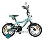 Велосипед 12 NOVATRAСK BOISTER (перед.тормоз, пласт.корот.крылья, гудок,зеркало) 085362, зеленый