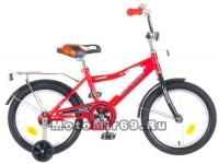 Велосипед 16'' NOVATRACK COSMIС (тормоз нож., крылья, багажник хром) красный