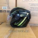 Шлем открытый 3/4 COBRA JK516, размеры XS, S, M, L, XL, XXL