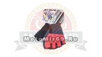 Перчатки вело кож.зам, лайкра (размер М) S-893