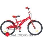 Велосипед 18'' NOVATRACK DELFI (1ск,торм.нож.,защита А-тип, корот.крыл) красн./бордовый