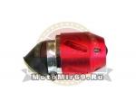 Фильтр воздушный (1670) КОРПУС цветной НЕОН6 красный d=28 45 гр.АТВ,Мопед, Скутер