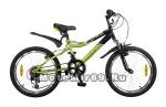Велосипед 20 NOVATRACK FLYER (12ск,рама сталь,торм.(V-br),Shimano) 117085 зелено/черный