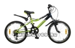 Велосипед 20 NOVATRACK FLYER (12ск,рама сталь,торм.(V-br),Shimano) 117085 зелено/черный