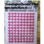 Стразы (набор кристаллов), 11x8 (=99) штук - на липкой основе, для декора авто/мото, розовые
