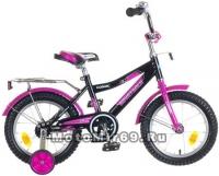 Велосипед 14 NOVATRACK COSMIC (1ск,рама сталь, тормоз ножной,багажник,звон.) 85405черный