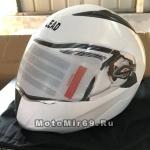 Шлем модуляр (поднимается подбородок) Safelead LX-118 NEW карбон (Y03) белый, размер M