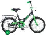 Велосипед 20 NOVATRACK STRIKE (ножной тормоз, цветные крылья, багажник черный) 126772 черно-зеленый