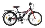 Велосипед 20'' NOVATRACK RACER (6ск,МТВ,рама сталь,вилка жест,торм.V-Brake) 117050, красный