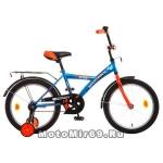 Велосипед 18 NOVATRACK ASTRA (1ск, рама сталь,тормоз ножной, багаж.хром,зв) 98598 синий