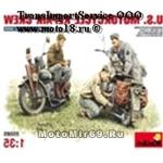 Модель для конструирования (3 фигурки ремонтного персонала + 2 мотоцикла, 245 деталей, 1:35)(35101)