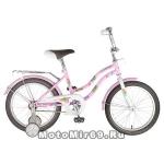 Велосипед 18 NOVATRACK TETRIS (торм.нож.,крылья цвет., багажник хром) 117122 розовый