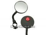 Зеркала Вело на хомуте (гибкая стойка) (с красным катафотом) D50мм