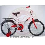 Велосипед 18 NOVATRACK STRIKE (ножной тормоз, цветные крылья, багажник черный) 126756 бело-красный