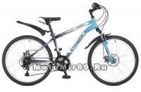 Велосипед 24 STINGER CAIMAN D (18 ск, рама 14, торм.мех.диск,TZ30/TY21/RS35) синий 117364