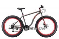 Велосипед 26 BLACK ONE MONSTER D (ФЭТ-БАЙК,20ск,рама сталь 18,20 торм.мех.диск) сер/кр,чер/оранж