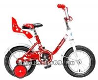 Велосипед 12 NOVATRACK MAPLE (тормоз нож.,крылья хром.,багажник хром.) 117116 красный