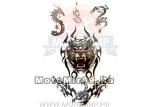 Татуировка временная (набор) 174 (легко наносится (30 секунд), Набор: тигр, драконы