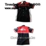 Рубашка МОТОСПОРТ (с коротким рукавом, с воротником) черно-красная Honda RB050