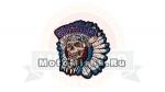 Нашивка Indian_Gost Rider (красивая, череп индейца с перьями) 05601116 НАКЛЕИВАЕТСЯ УТЮГОМ