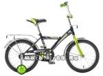 Велосипед 16'' NOVATRACK ASTRA (1ск,защита А-тип,крылья и баг.хром) черный