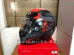 Шлем интеграл SHIRO SH-881 FUJI, размер M, (1уп =6 шт) (желтый/красный с черным)